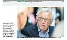 NZZ am Sonntag - Hansjoerg Wyss and his