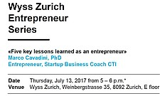 Second Event of the Wyss Zurich Entrepreneur Series